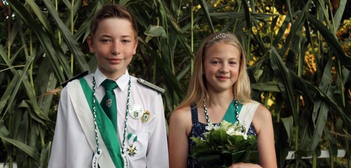 Kinderkönigspaar 2016: Silas Bänisch und Fee Kofortschröder