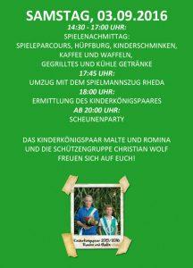 Flyer Kinderschützenfest Rückseite