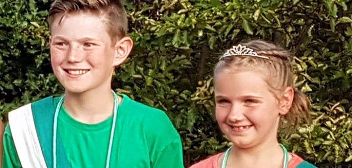 Von der Wöste für die Wöste: Maja Schaft und Hannes Müller regieren die Kinderschützen